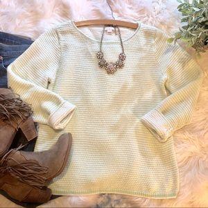 J. Crew Mint Cozy Knit Sweater